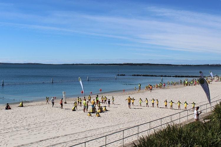 Ramsgate RSL training at Monterey Baths in Sydney.