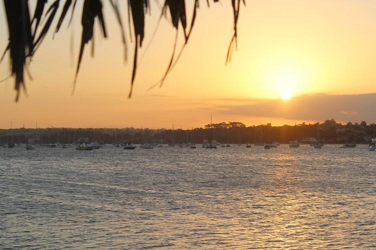 Gorgeous sunset at Sans Souci in Sydney, Australia.