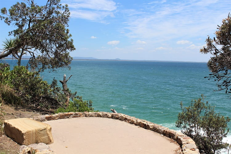 Dolphin Point Lookout on the Noosa National Park coastal walk in Queensland, Australia.