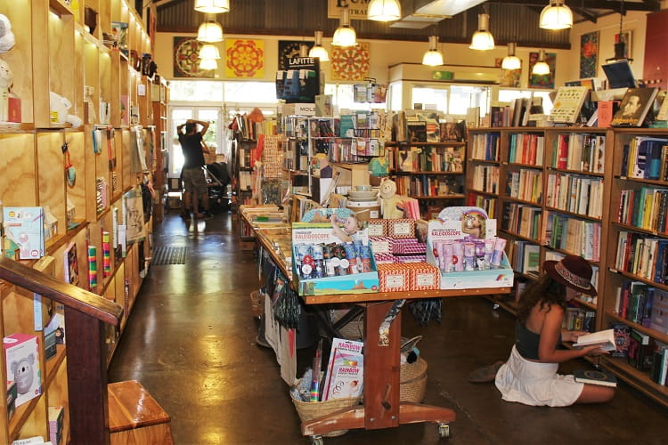 Berkelouw Book Barn on Memorial Drive in Eumundi, Queensland, Australia.