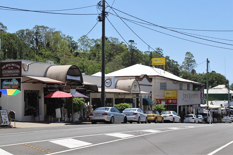 Memorial Drive in Eumundi, Sunshine Coast hinterland.