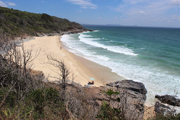 Beautiful Granite Bay in Noosa National Park, a stunning Queensland beach.