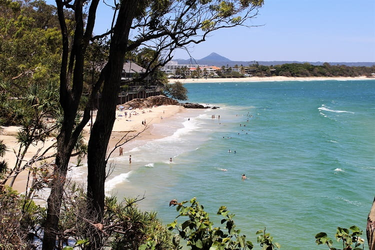 Little Cove Beach in Noosa on a sunny day at the Sunshine Coast.