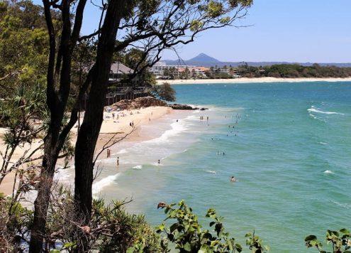 Beach scene from the Noosa Coastal Walk in Noosa National Park.