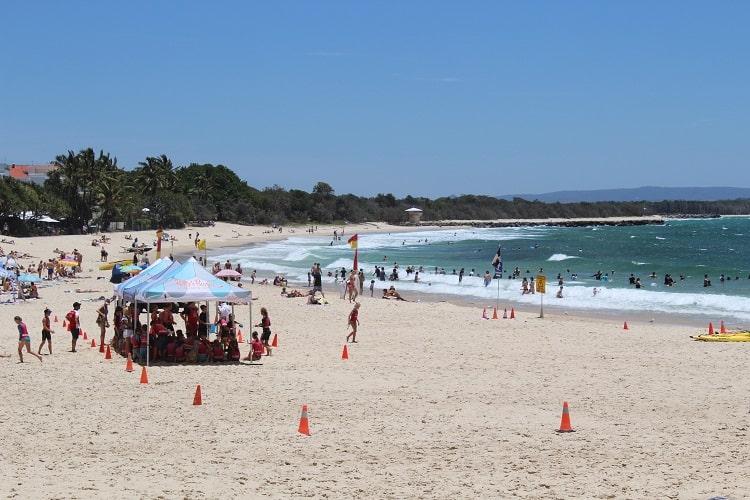 Popular Main Beach in Noosa Heads, Sunshine Coast.