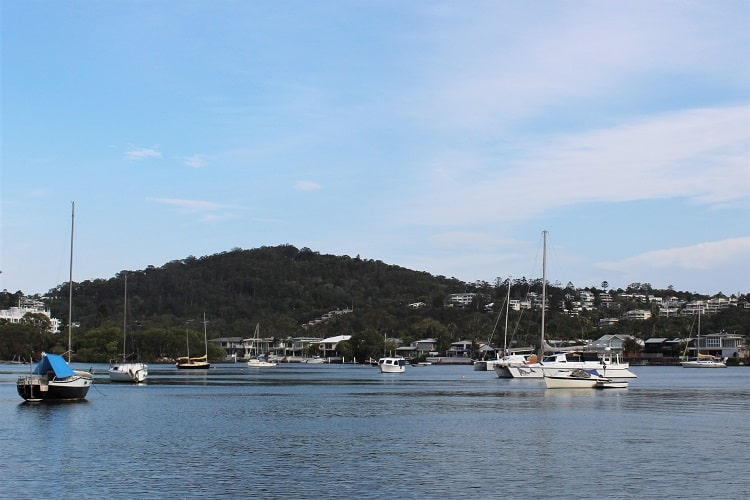 Looking across to Noosa Parade from Noosa Spit.
