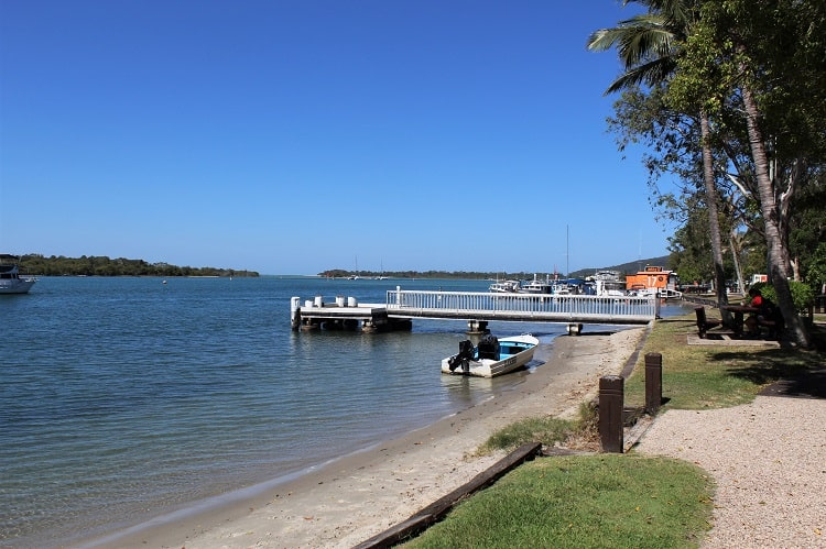 Noosa River alongside Gympie Terrace in Noosaville.