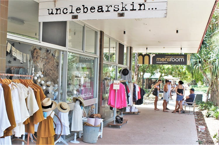 Boutique shopping at Peregian Beach village, Queensland.