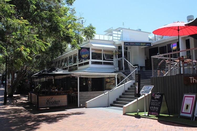 Restaurants at Sunshine Beach, Queensland.