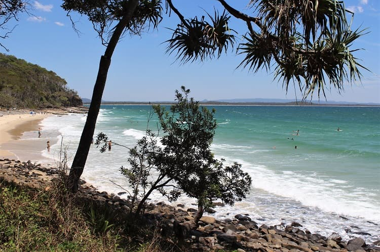 Beautiful Tea Tree Bay - a quiet beach on the Noosa National Park walk around the headland.